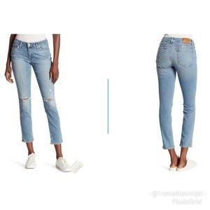 Lucky Brand Lolita skinny distressed jeans 12